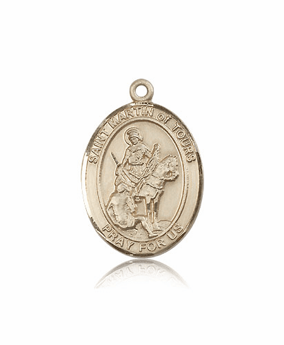 St Martin of Tours 14kt Gold Paton Saint Medals By Bliss