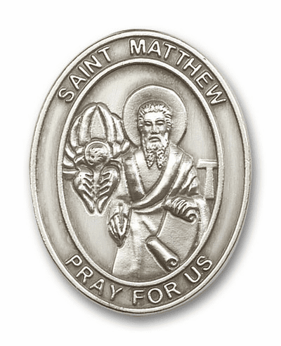 St Matthew Antique Silver Visor Clip