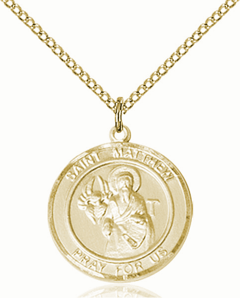 St Matthew the Apostle Medium Patron Saint 14kt Gold-filled Medal by Bliss