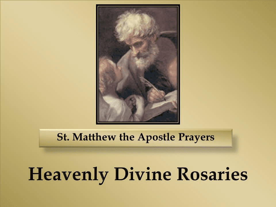 St. Matthew the Apostle Prayers