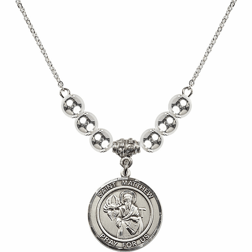 St Matthew the Apostle Silver Necklace by Bliss Mfg