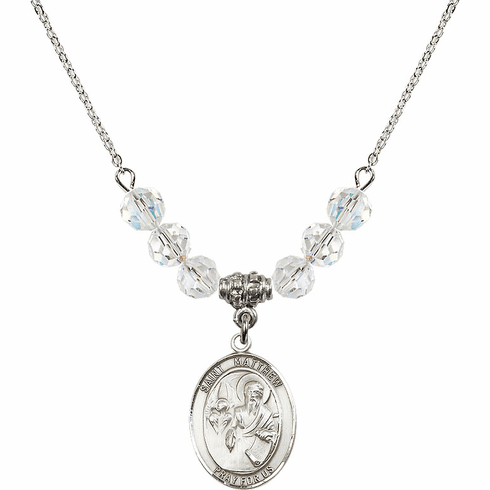St Matthew the Apostle Swarovski Necklace by Bliss Mfg
