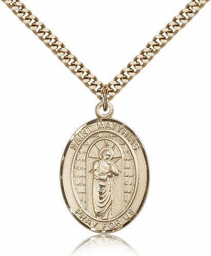St Matthias the Apostle Patron Saint 14kt Gold-Filled Medal by Bliss