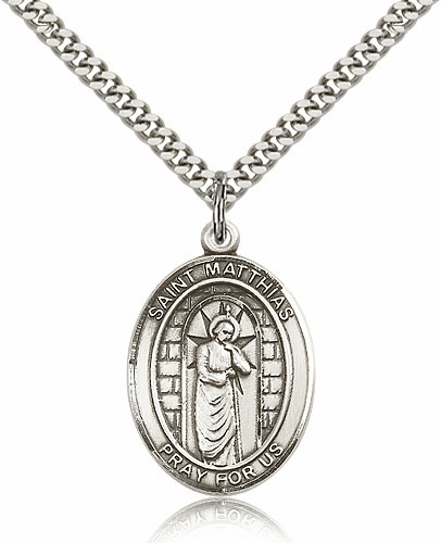St. Matthias the Apostle Patron Saint Medal  Necklace by Bliss