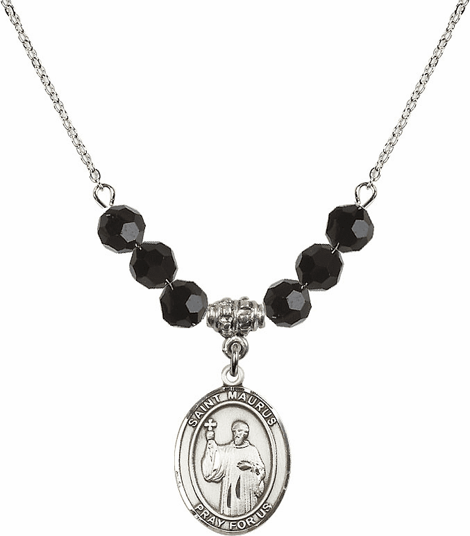 St Maurus Jet Black Necklace by Bliss Mfg