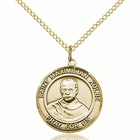 St Maximilian Kolbe Medium Patron Saint 14kt Gold-filled Medal by Bliss