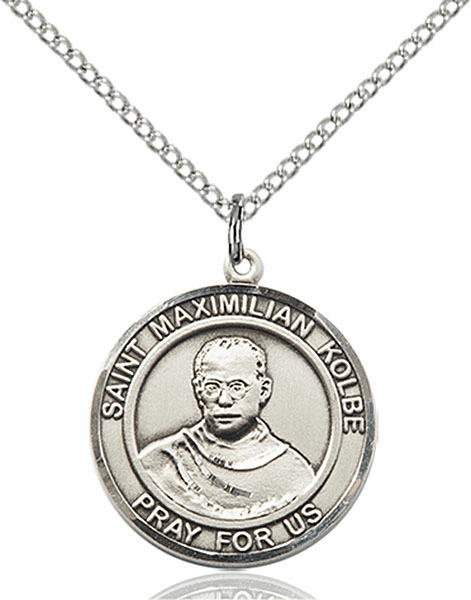 St Maximilian Kolbe Medium Patron Saint Pewter Medal by Bliss