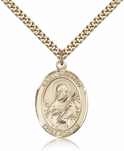 St Meinrad of Einsideln Patron Saint 14kt Gold-Filled Medal by Bliss