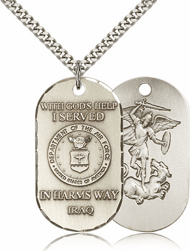 St. Michael Air Force Dog Tag Necklace