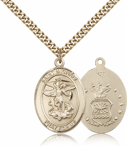 St Michael Air Force Patron Saint Gold Filled Medals