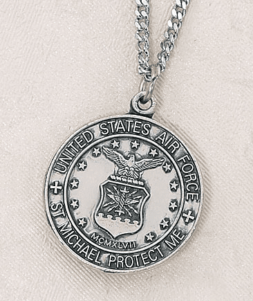St Michael Air Force Sterling Silver Medal by Creed Jewelry