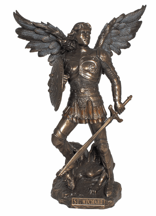 St Michael Archangel Cold Cast Bronze Statue by Veronese Collection