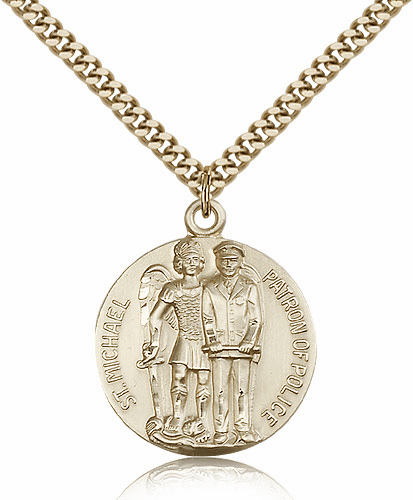 St Michael Archangel Police Officer 14kt Gold-filled Saint Necklace