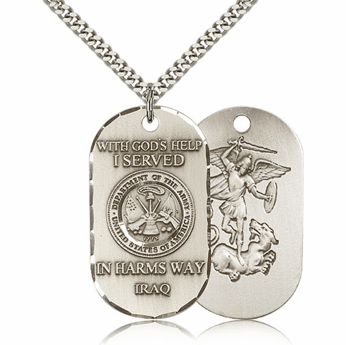 St. Michael Army Military Necklace