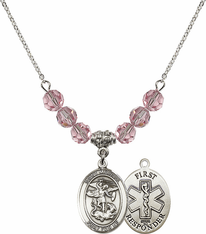 St Michael First Responders Lt Rose Necklace by Bliss Mfg