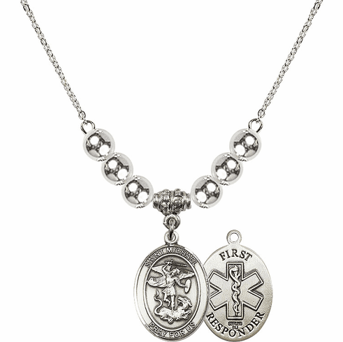 St Michael First Responders Silver Necklace by Bliss Mfg