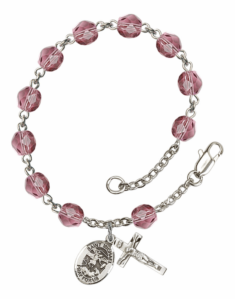 St Michael the Archangel Charm Bangles and Rosary Bracelets