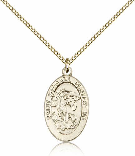 Bliss St Michael the Archangel Gold-filled Catholic Medal Necklace