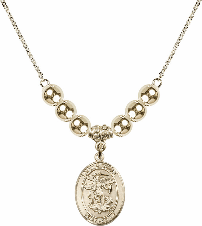 St Michael the Archangel Gold Necklace by Bliss Mfg