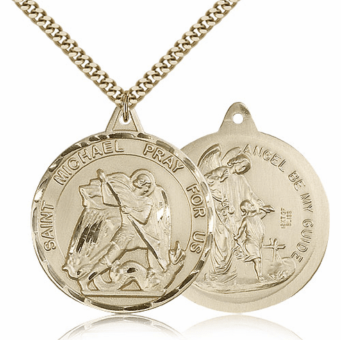St Michael the Archangel & Guardian Angel Gold-filled Necklace by Bliss