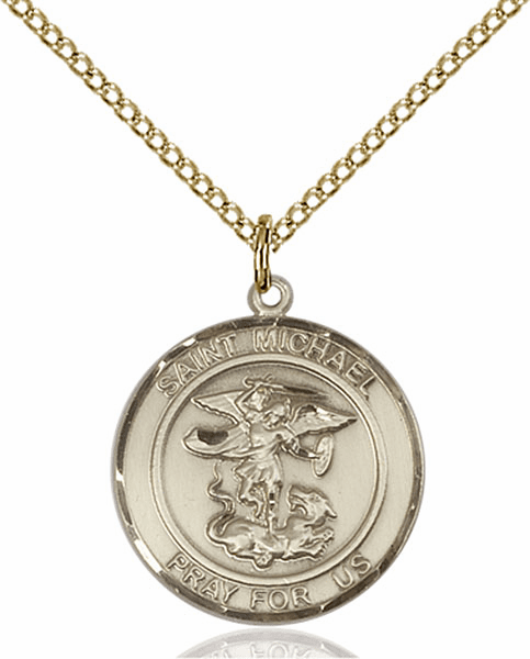 St Michael the Archangel Medium Patron Saint 14kt Gold-filled Medal by Bliss