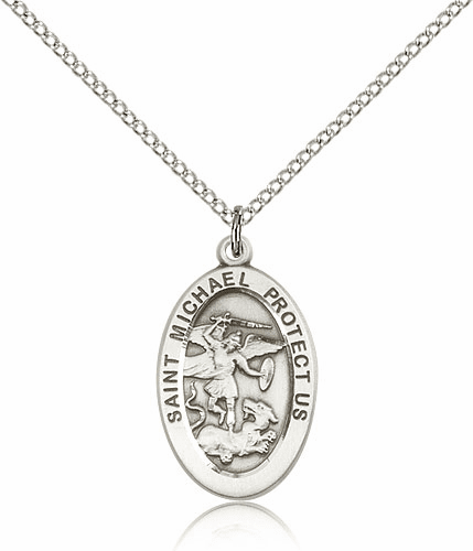 St Michael the Archangel Patron Saint Catholic Medal Necklace by Bliss
