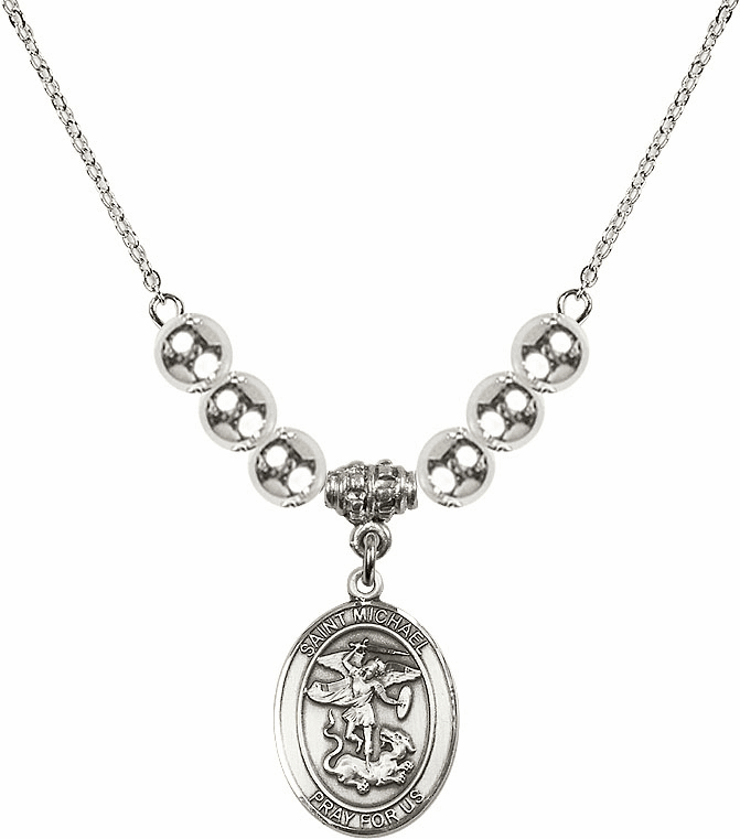 St Michael the Archangel Silver Necklace by Bliss Mfg