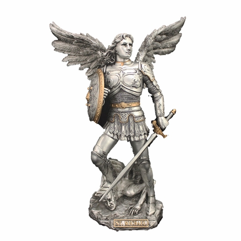 St Michael w/Spear and Shield Finish Statue by Veronese