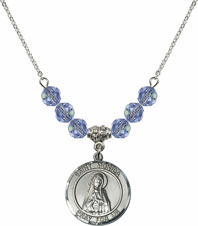 St Monica Beaded Necklace Jewelry
