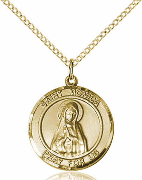 St Monica Medium Patron Saint 14kt Gold-filled Medal by Bliss
