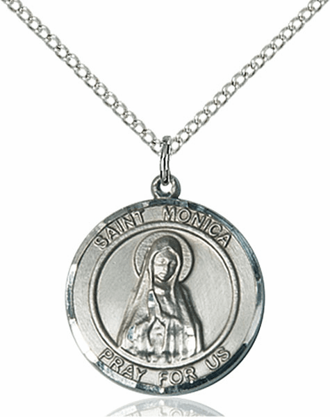 St Monica Medium Patron Saint Pewter Medal by Bliss