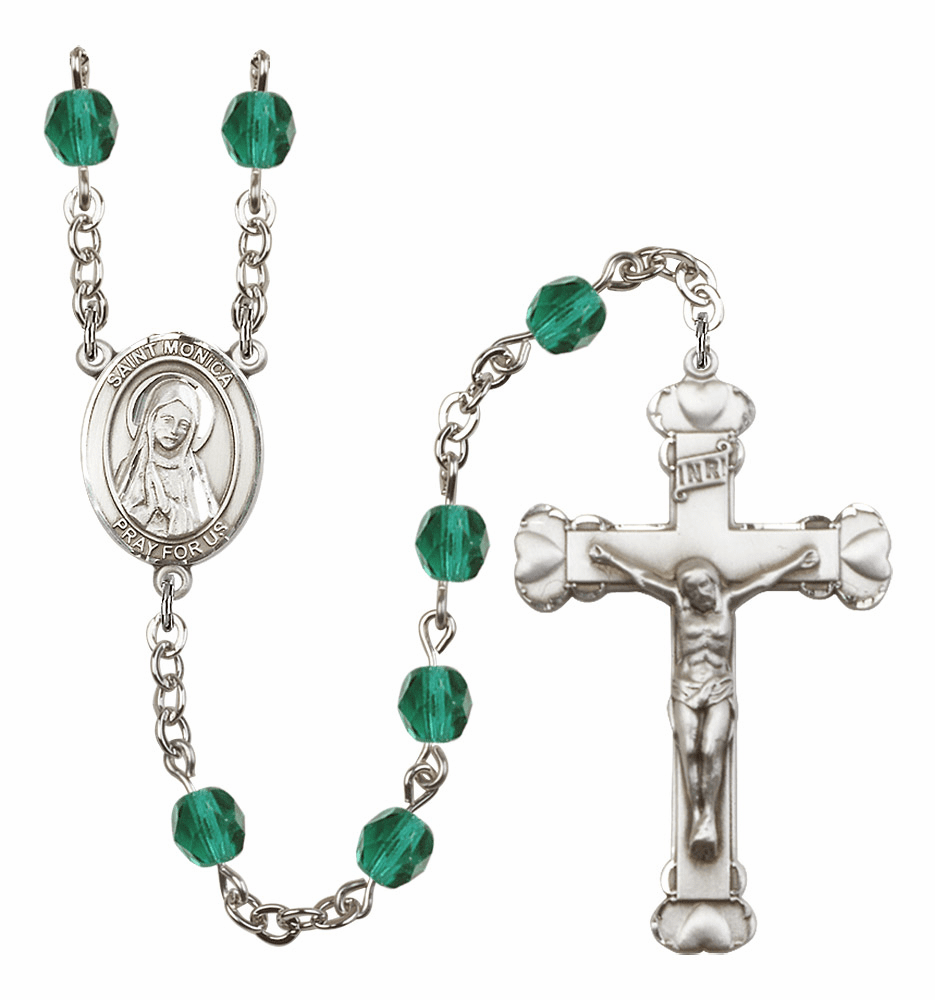 St Monica Plated Rosaries