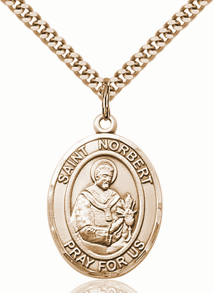 St Norbert of Xanten Patron Saint Medal Necklace by Bliss