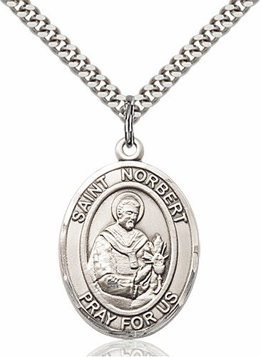 St Norbert of Xanten Sterling Silver-Filled Patron Saint Medal by Bliss
