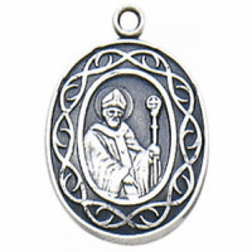 St Patrick Crown of Thorns Medal Necklace