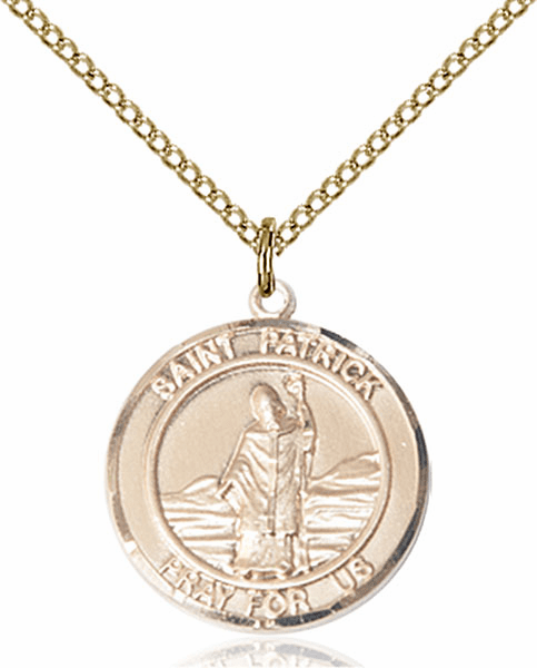 St Patrick Medium Patron Saint 14kt Gold-filled Medal by Bliss
