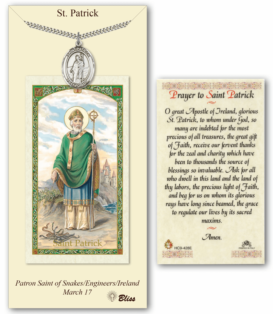 Bliss Mfg St Patrick Prayer Card & Pendant Gift Set