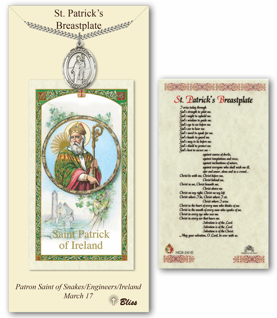 Bliss Mfg St Patrick's Breastplate Prayer Card & Pendant Gift Set