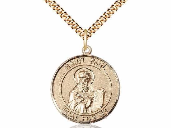 St Paul the Apostle Round Patron Saint 14kt Gold-filled Medal by Bliss