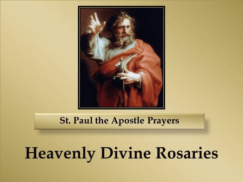 St. Paul the Apostle Prayers