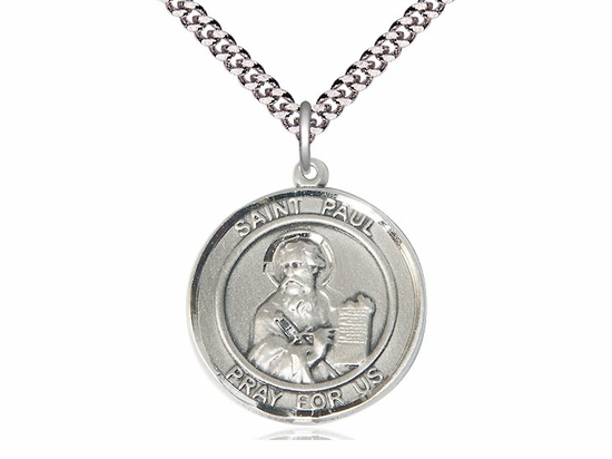 St Paul the Apostle Round Patron Saint Silver-filled Medal by Bliss
