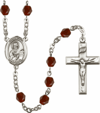 St Paul the Apostle Birthstone Crystal Prayer Rosary by Bliss - More Colors
