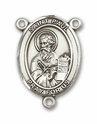 St Paul the Apostle Sterling Silver Saint Rosary Center by Bliss