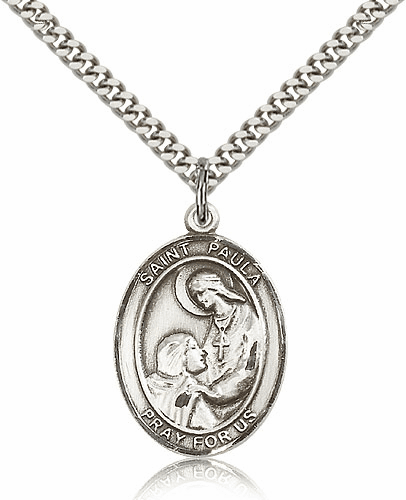 St Paula Patron Saint Sterling Silver Medal by Bliss