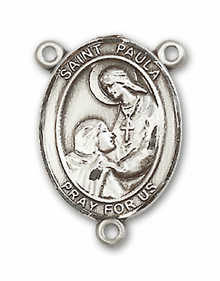 St Paula Sterling Silver Saint Rosary Center by Bliss