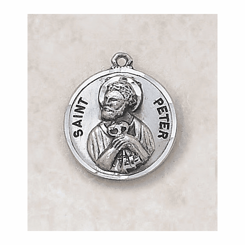 St Peter Sterling Sterling Patron Saint Medal w/Chain by Creed Jewelry