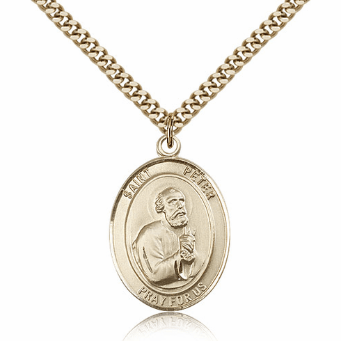 St Peter the Apostle 14kt Gold-filled Saint Necklace by Bliss Manufacturing