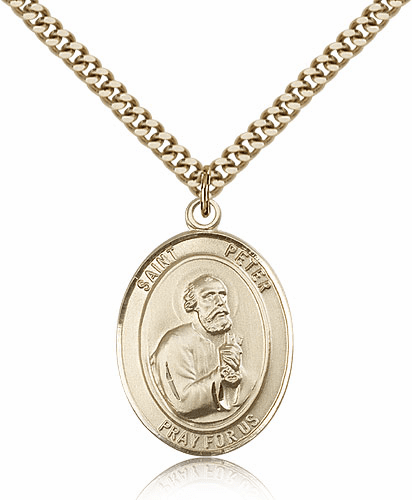 St Peter the Apostle 14kt Gold-filled Saint Necklace by Bliss