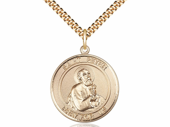 St Peter the Apostle Medium Patron Saint 14kt Gold-filled Medal by Bliss