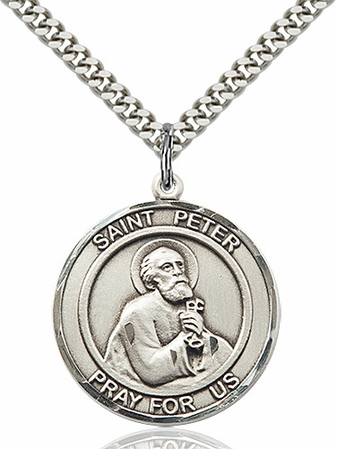 St Peter the Apostle Medium Patron Saint Pewter Medal by Bliss